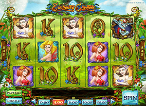 The butterflies at Enchanted Crystals gives you many free spins
