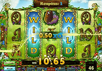 The Wild symbol at Enchanted Crystals slot machine gives you many bonuses