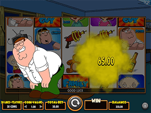 Peter's feature in Family Guy slot is the rarest in the game