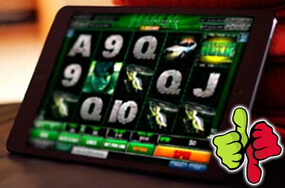 Advantages and disadvantages of playing slots on mobile