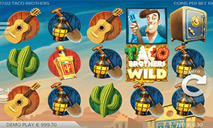 Taco brothers is a unique-looking slot machine