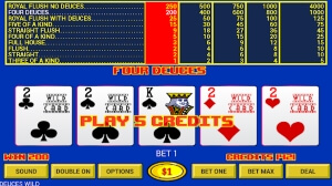Deuces Wild - one of the most popular video poker games